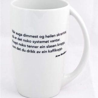 Festspel-kruset med sitat av Arne Moslåtten