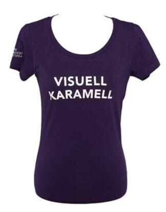 Festspel-t-skjorta 2011 Visuell karamell - Dame (sid) Lilla